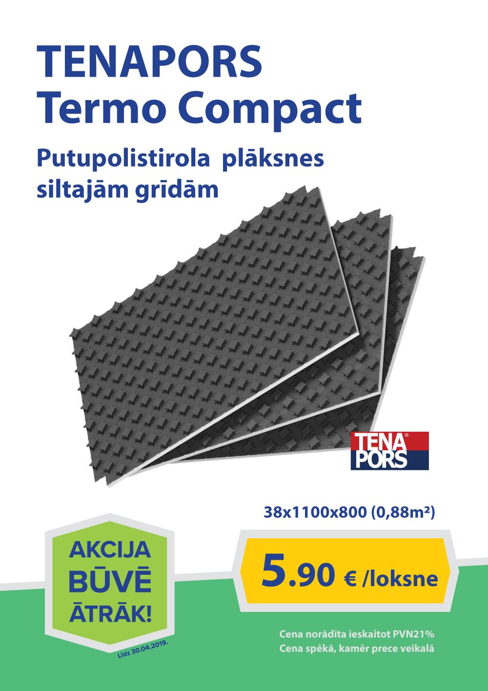TENAPORS Termo Compact    38x1100x800 (0,88m2)